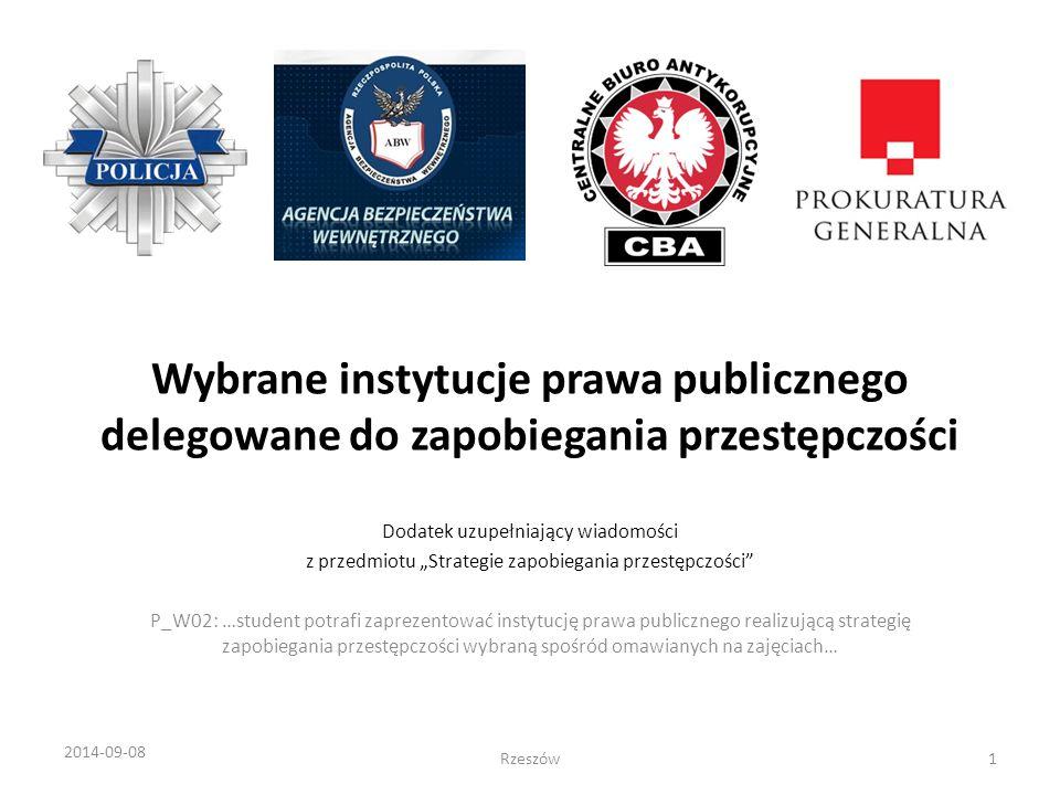 Wybrane instytucje prawa publicznego delegowane do zapobiegania przestępczości