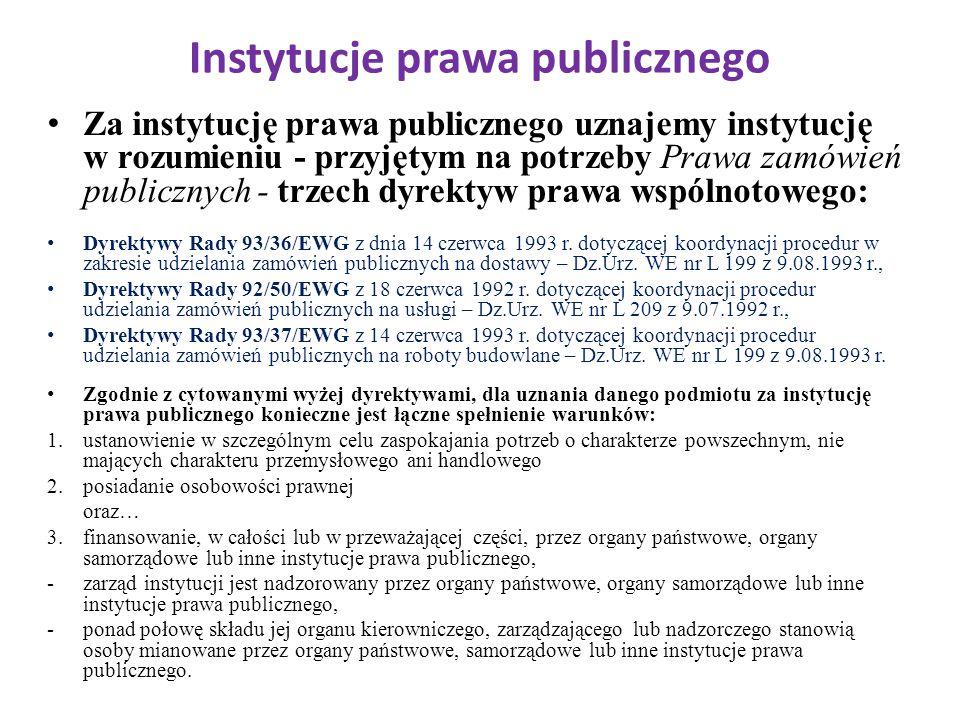 Instytucje prawa publicznego