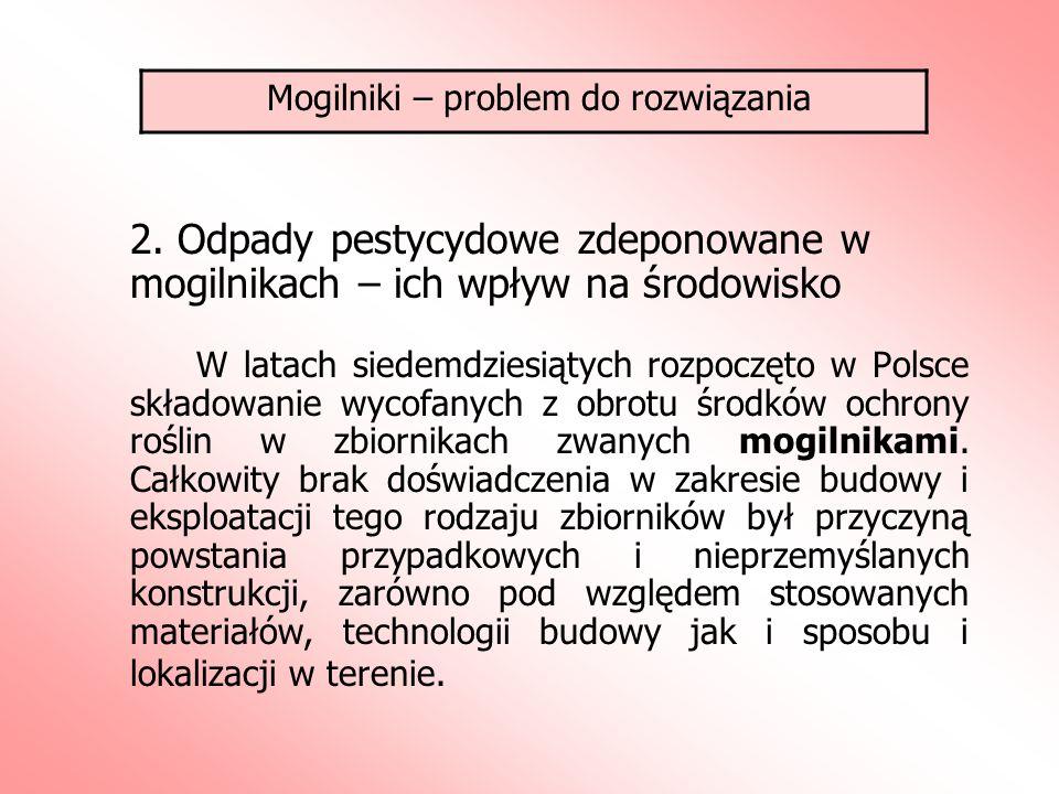 Mogilniki – problem do rozwiązania