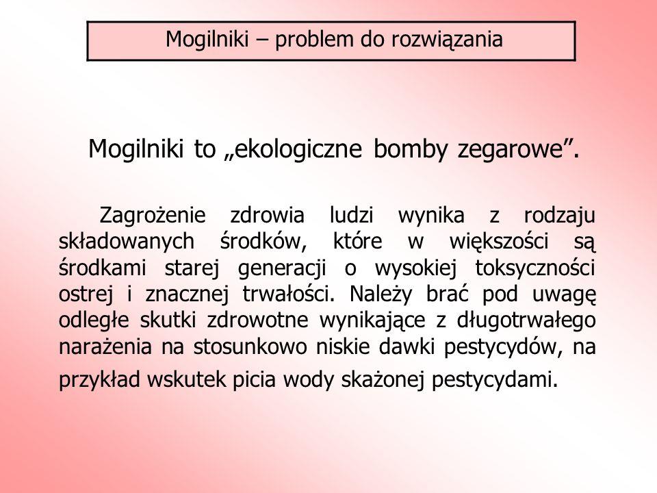 """Mogilniki to """"ekologiczne bomby zegarowe ."""