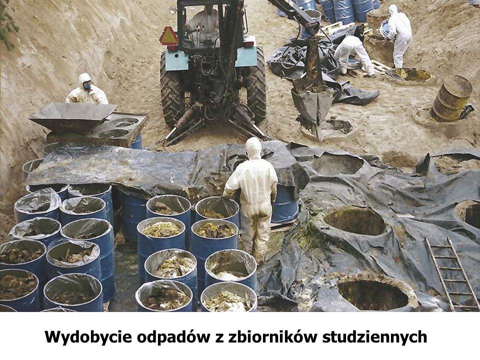 Wydobycie odpadów z zbiorników studziennych