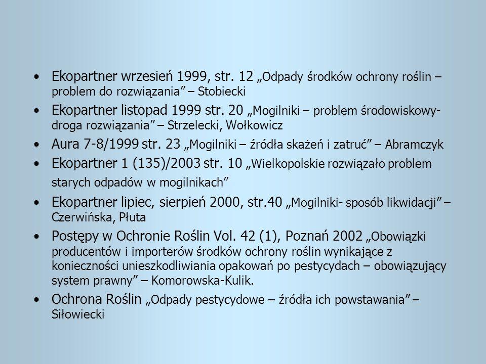 Ekopartner wrzesień 1999, str