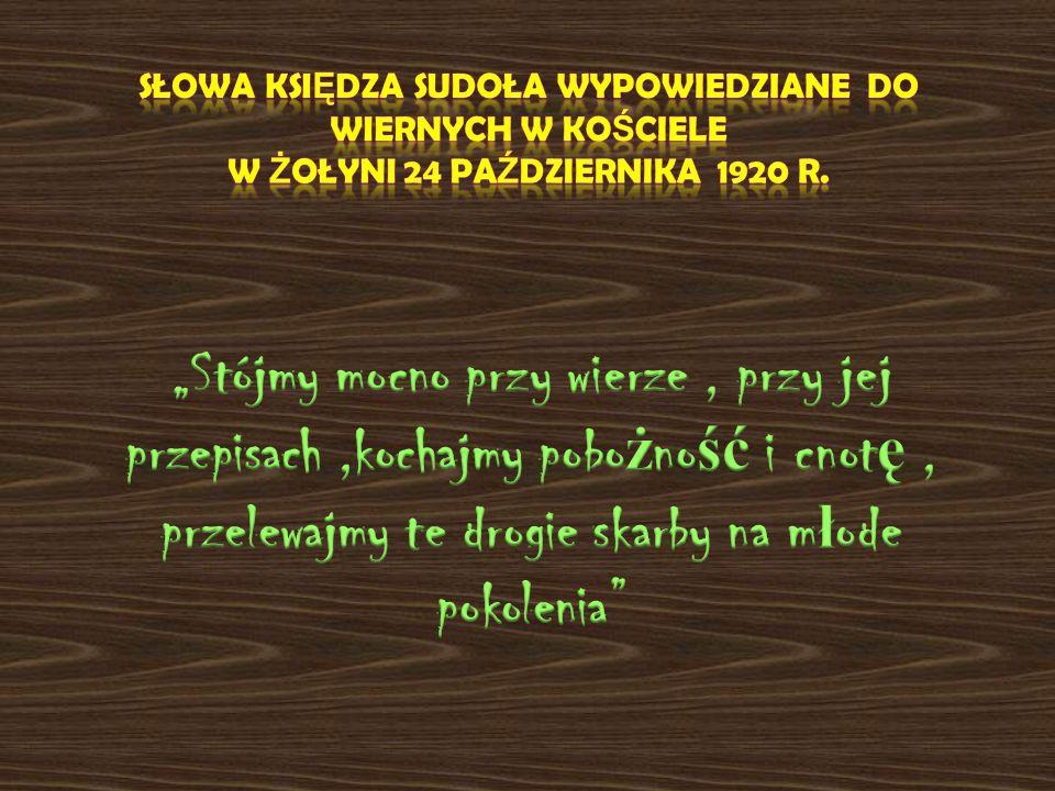 Słowa Księdza Sudoła wypowiedziane do wiernych w kościele