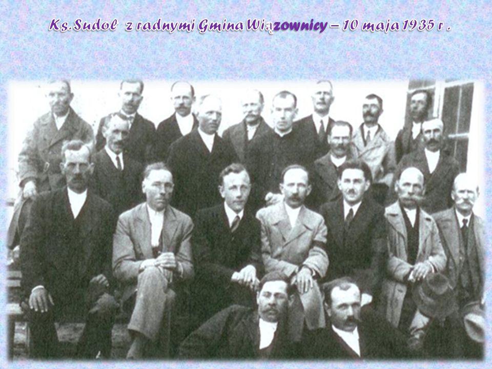 Ks. Sudoł z radnymi Gmina Wiązownicy – 10 maja 1935 r .