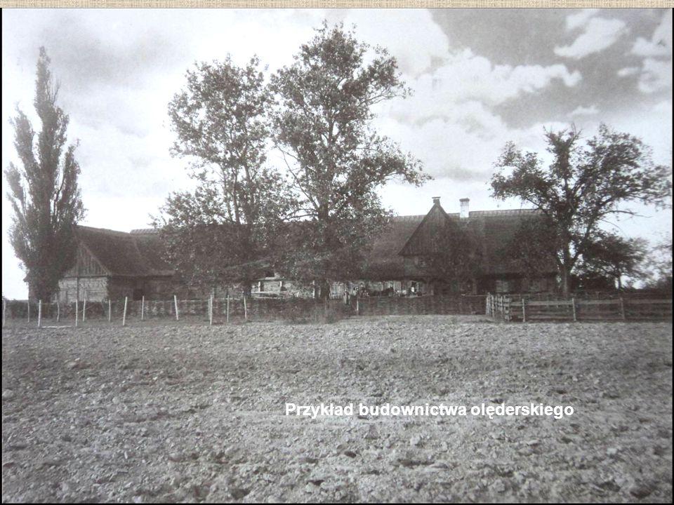 Przykład budownictwa olęderskiego