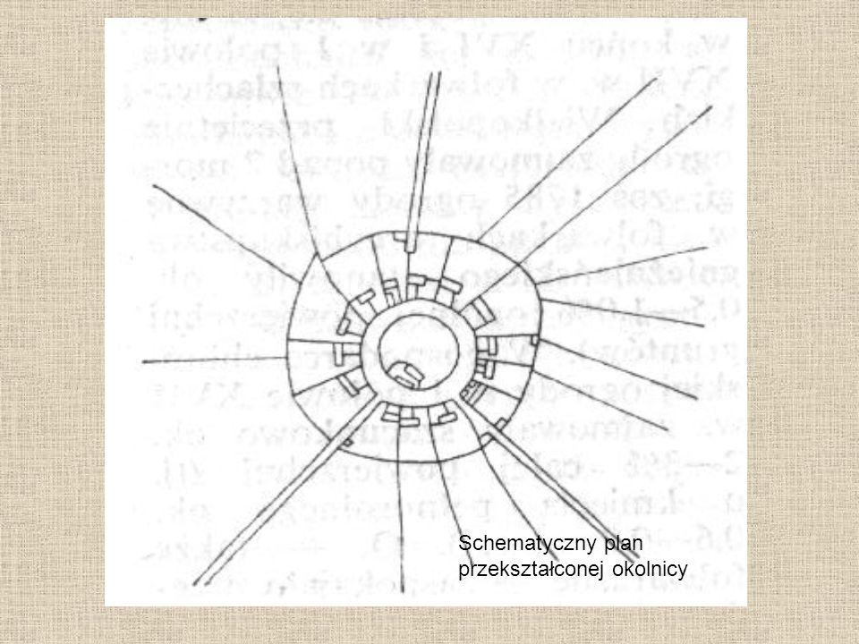 Schematyczny plan przekształconej okolnicy