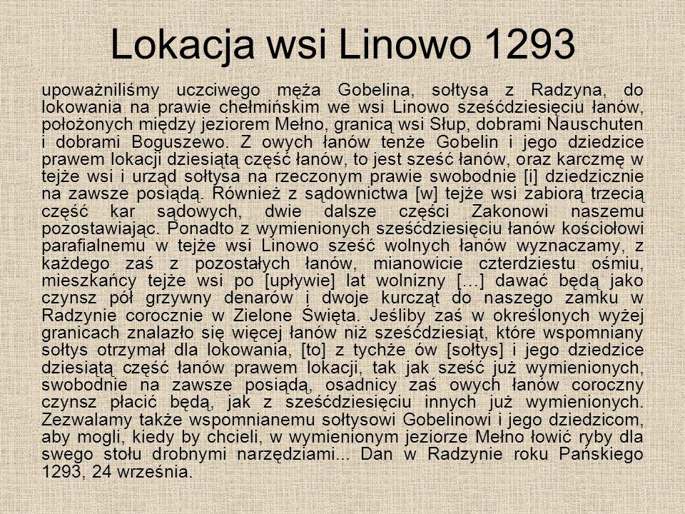 Lokacja wsi Linowo 1293