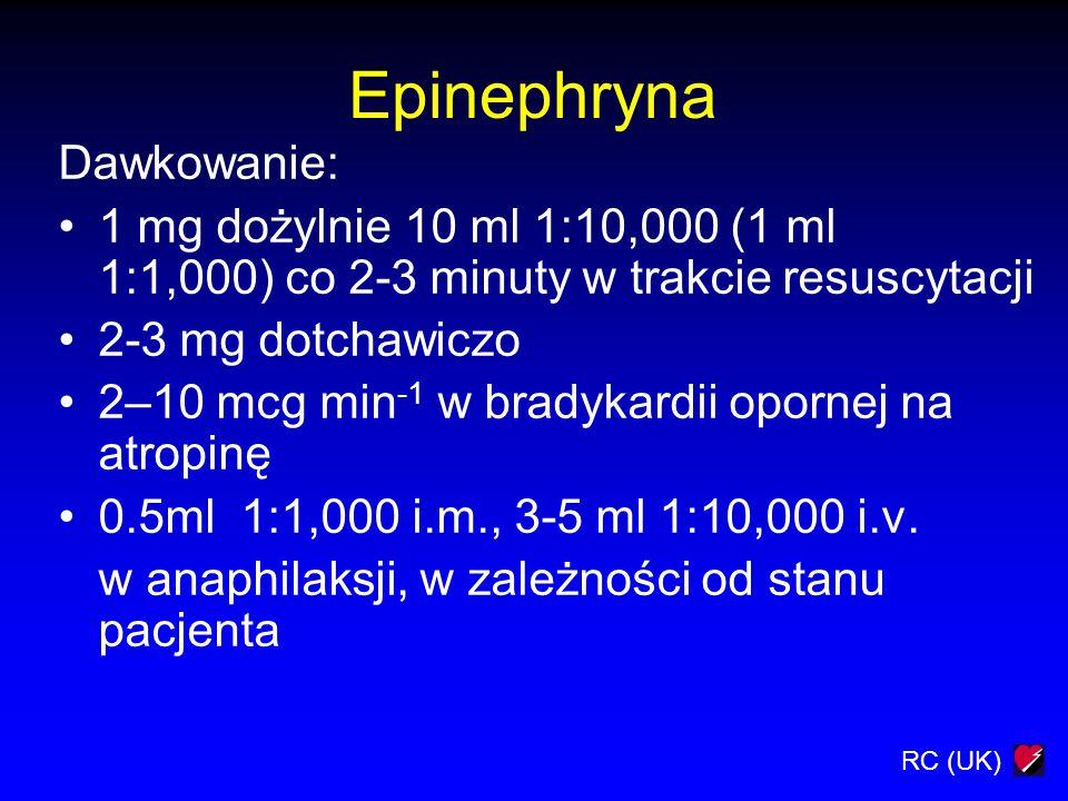 Epinephryna Dawkowanie: