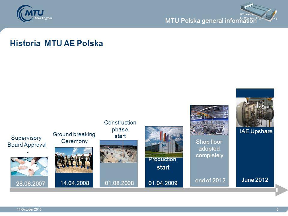 Historia MTU AE Polska MTU Polska general information start