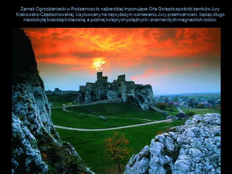 Zamek Ogrodzieniecki w Podzamczu to najbardziej imponujące Orle Gniazdo spośród zamków Jury Krakowsko-Częstochowskiej.