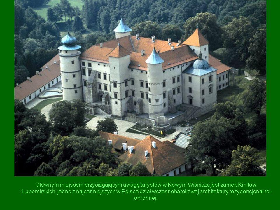 Głównym miejscem przyciągającym uwagę turystów w Nowym Wiśniczu jest zamek Kmitów i Lubomirskich, jedno z najcenniejszych w Polsce dzieł wczesnobarokowej architektury rezydencjonalno–obronnej.