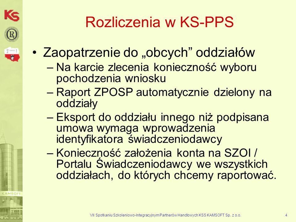 """Rozliczenia w KS-PPS Zaopatrzenie do """"obcych oddziałów"""