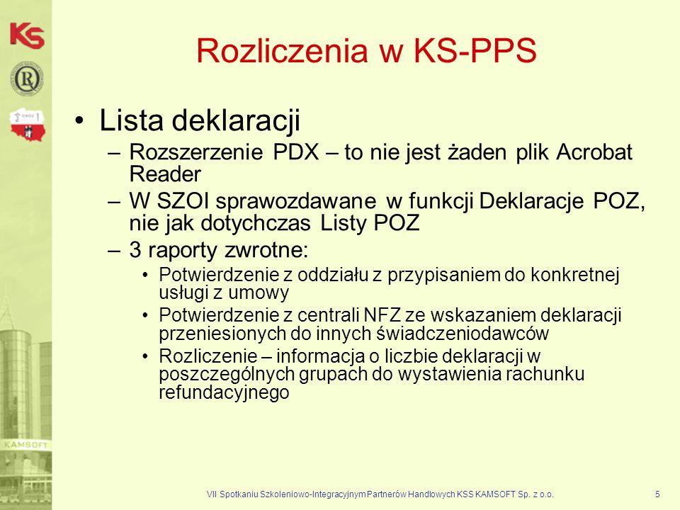 Rozliczenia w KS-PPS Lista deklaracji