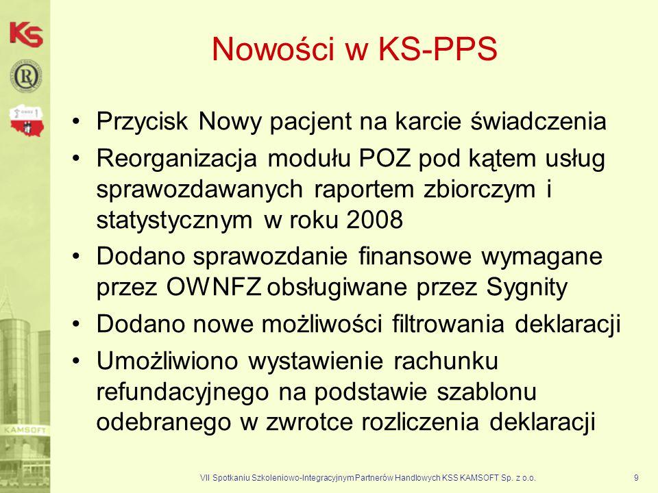 Nowości w KS-PPS Przycisk Nowy pacjent na karcie świadczenia