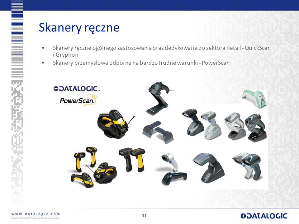 Skanery ręczne Skanery ręczne ogólnego zastosowania oraz dedykowane do sektora Retail - QuickScan i Gryphon.