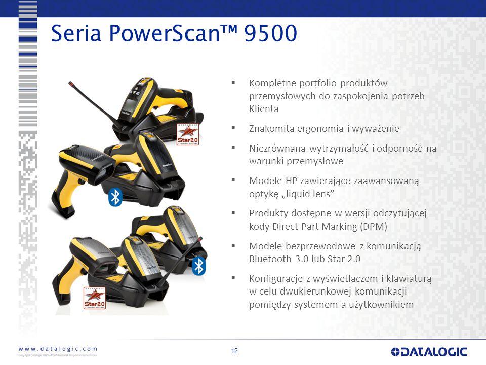 Seria PowerScan™ 9500 Kompletne portfolio produktów przemysłowych do zaspokojenia potrzeb Klienta.