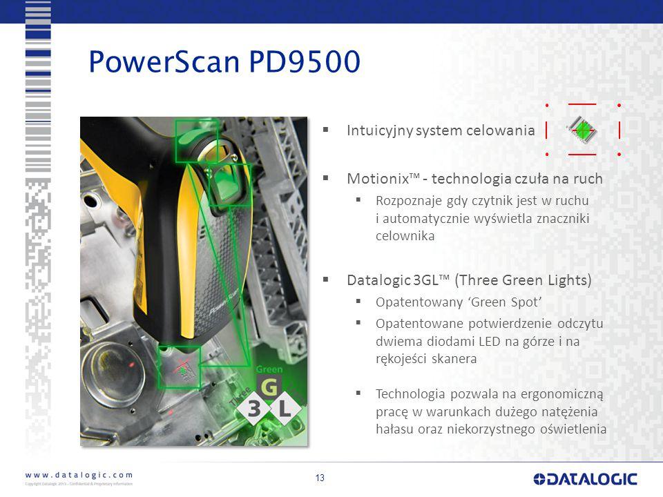 PowerScan PD9500 Intuicyjny system celowania