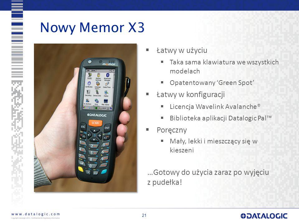 Nowy Memor X3 Łatwy w użyciu Łatwy w konfiguracji Poręczny