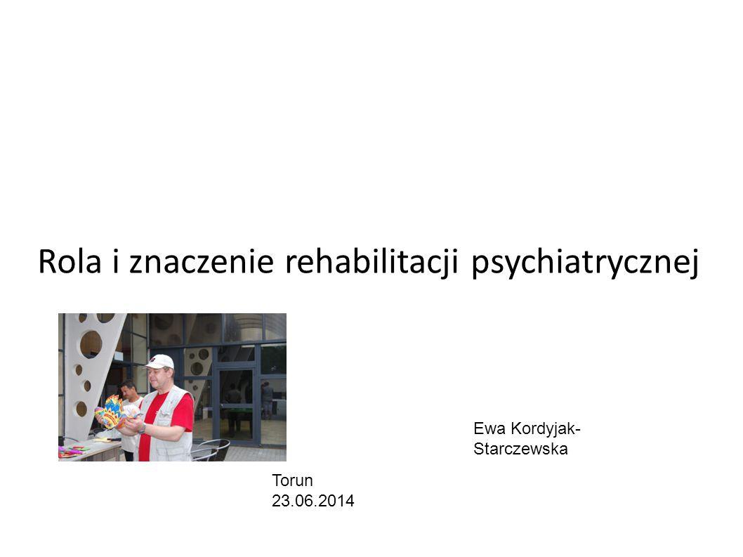 Rola i znaczenie rehabilitacji psychiatrycznej