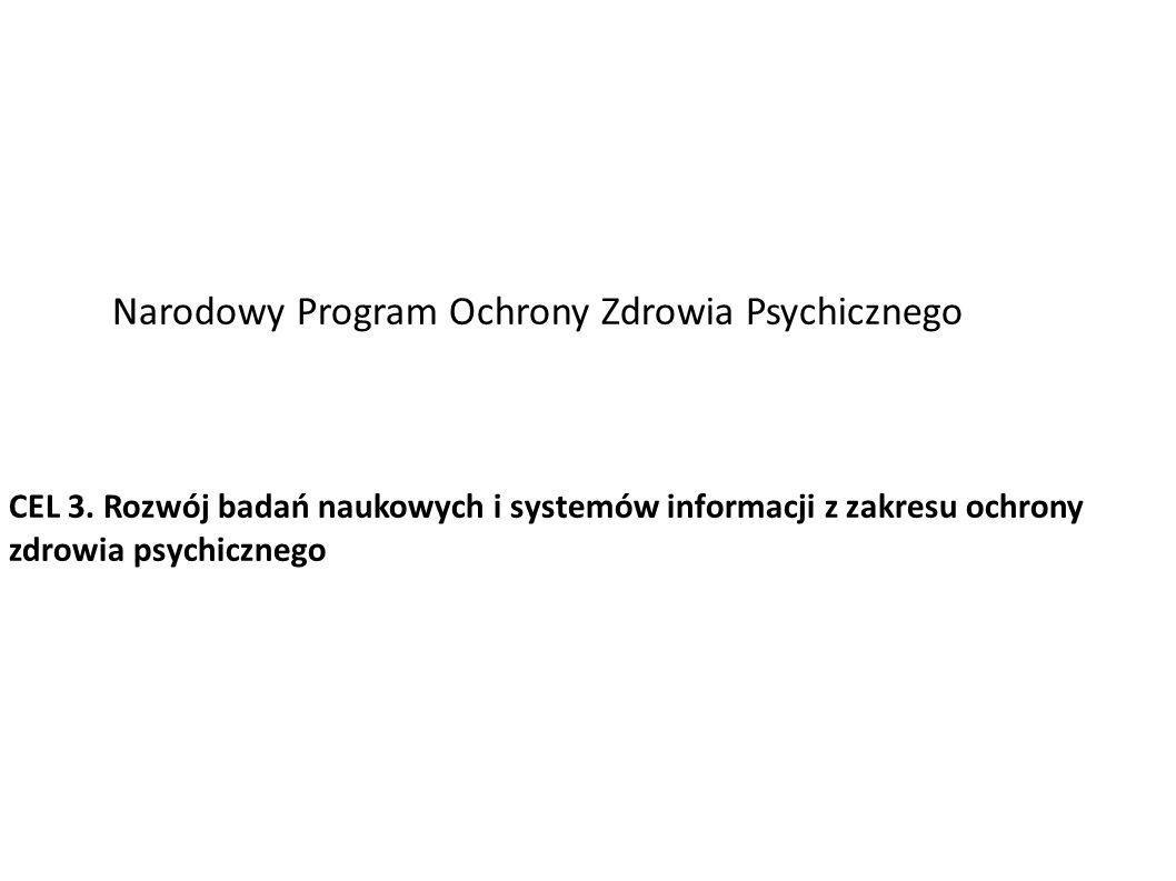 Narodowy Program Ochrony Zdrowia Psychicznego CEL 3