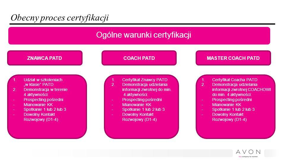 Obecny proces certyfikacji