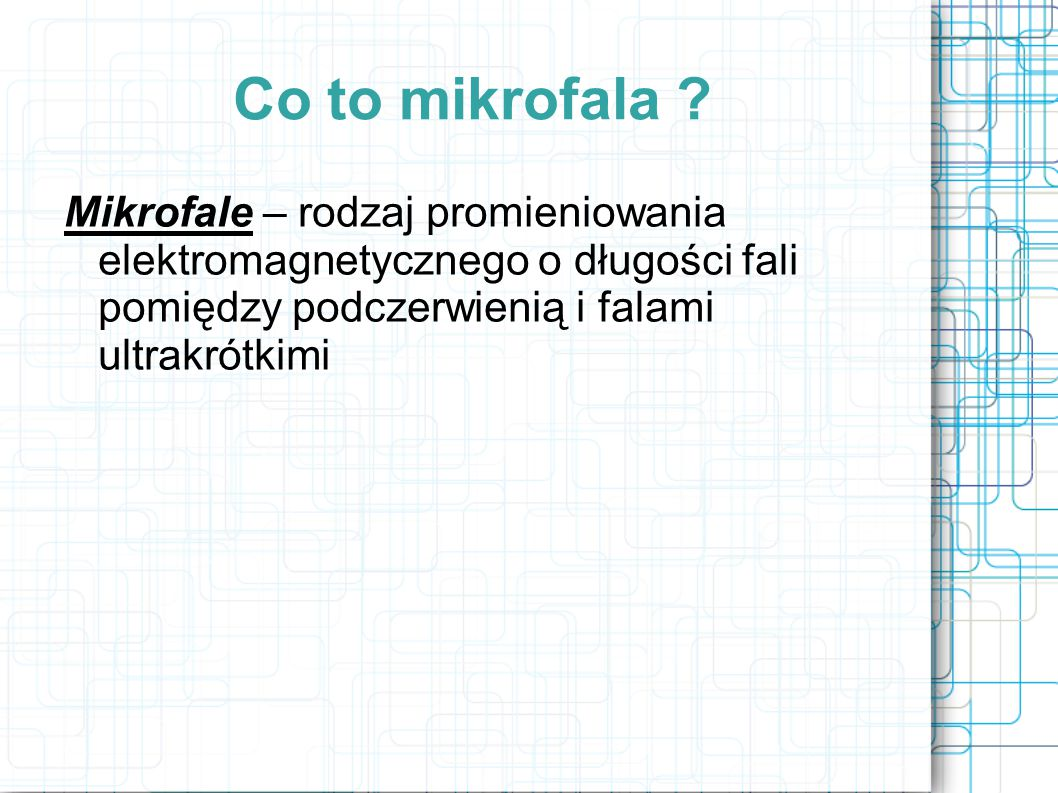 Co to mikrofala .