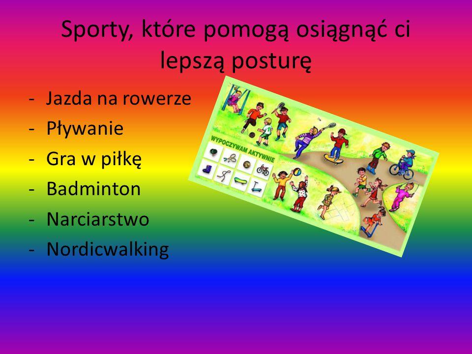 Sporty, które pomogą osiągnąć ci lepszą posturę