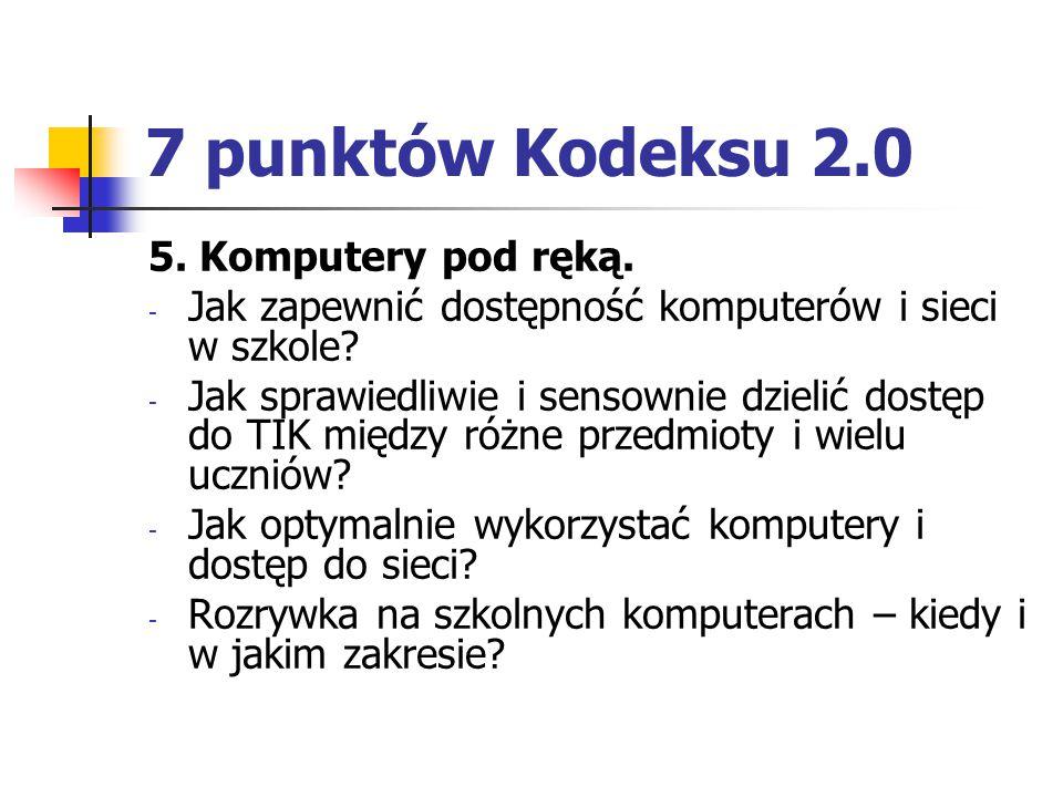 7 punktów Kodeksu 2.0 5. Komputery pod ręką.