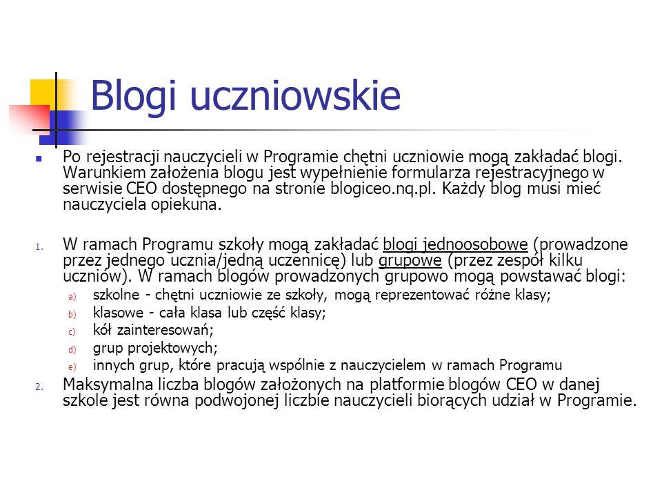 Blogi uczniowskie