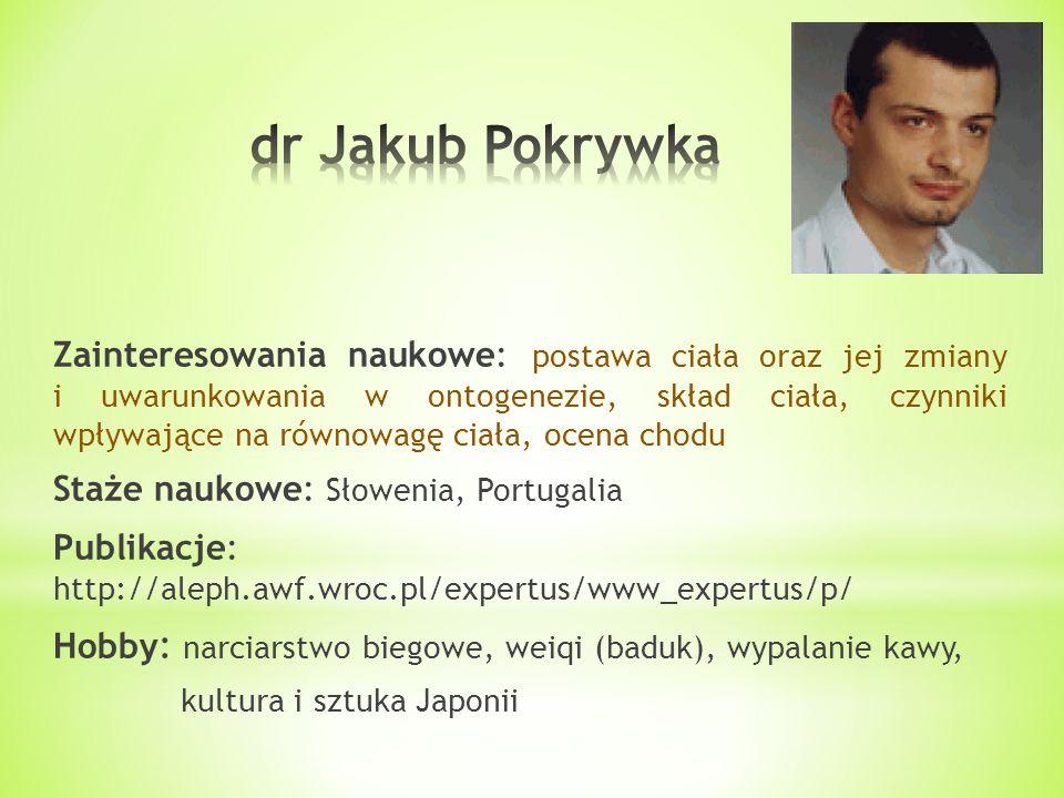 dr Jakub Pokrywka