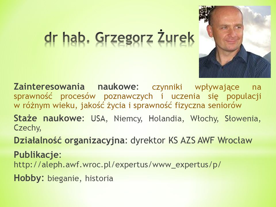 dr hab. Grzegorz Żurek