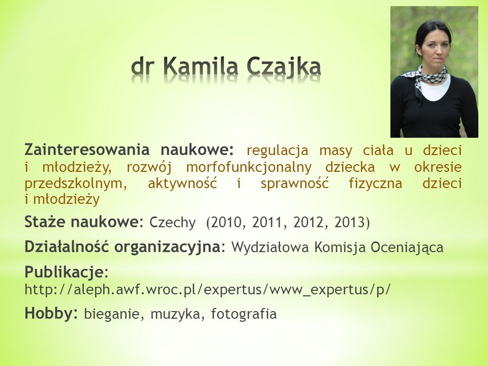 dr Kamila Czajka