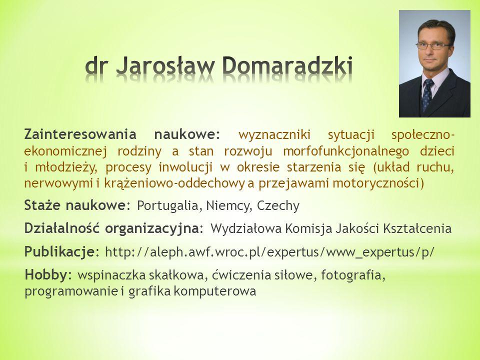 dr Jarosław Domaradzki