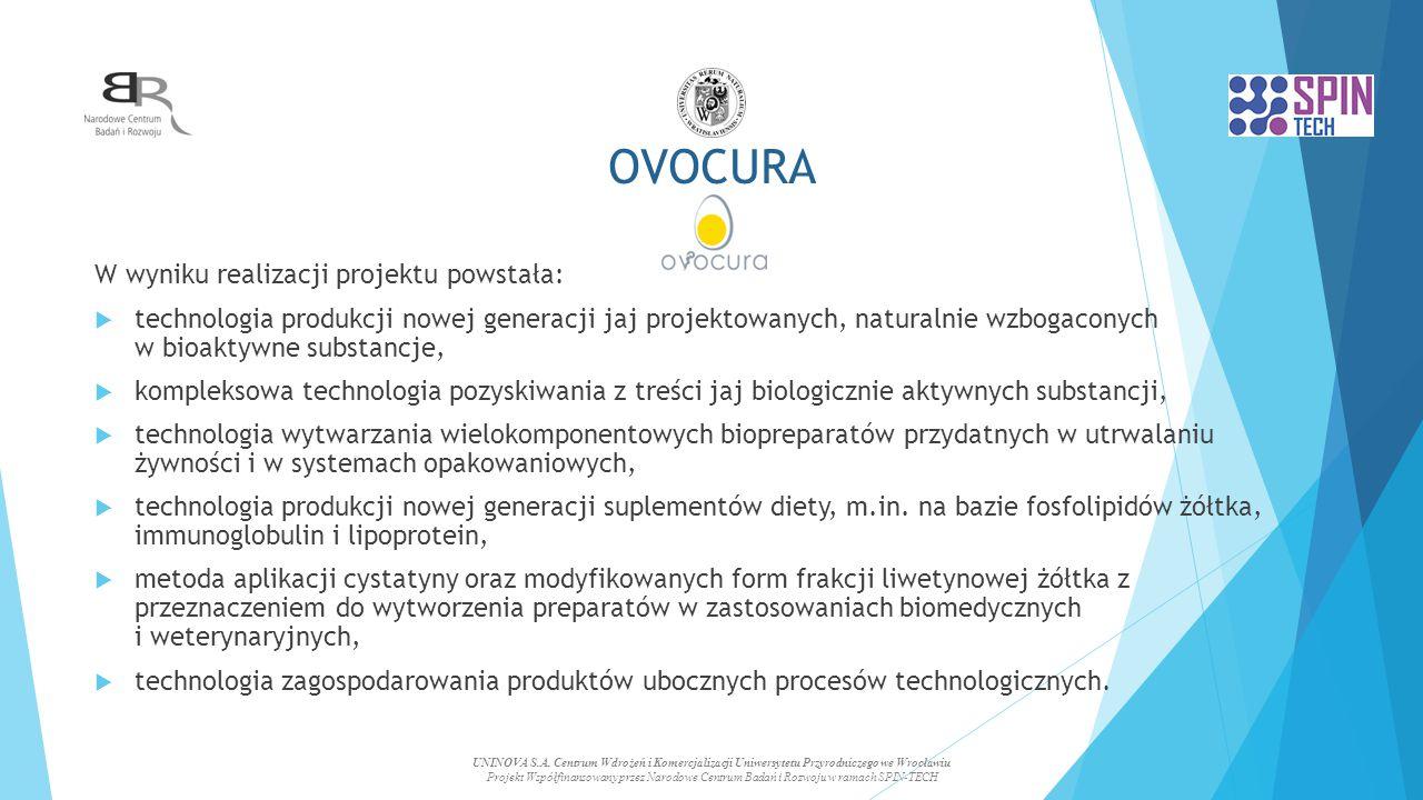 OVOCURA W wyniku realizacji projektu powstała:
