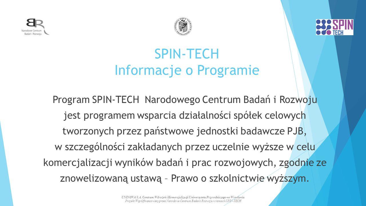SPIN-TECH Informacje o Programie