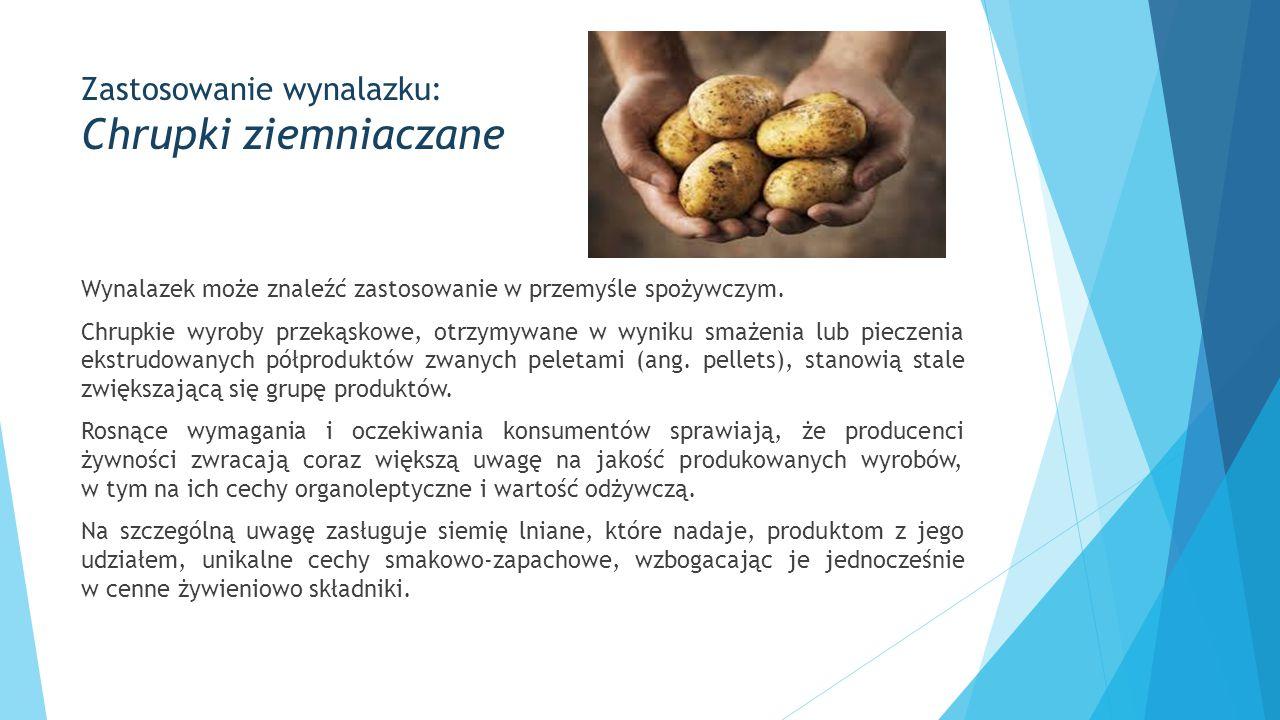 Zastosowanie wynalazku: Chrupki ziemniaczane