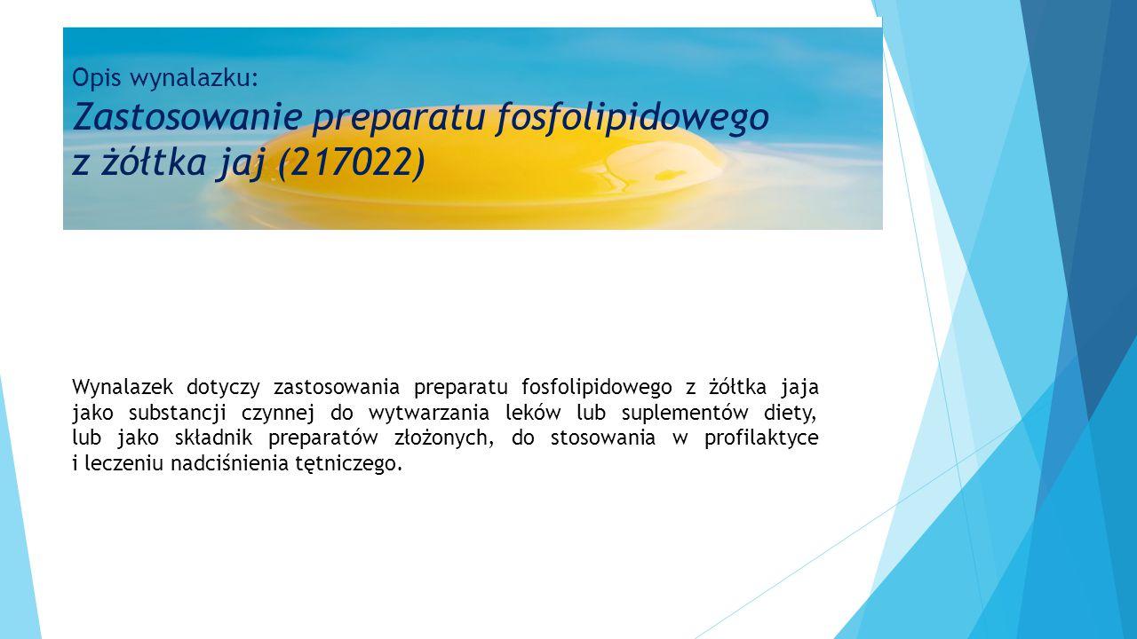 Opis wynalazku: Zastosowanie preparatu fosfolipidowego z żółtka jaj (217022)