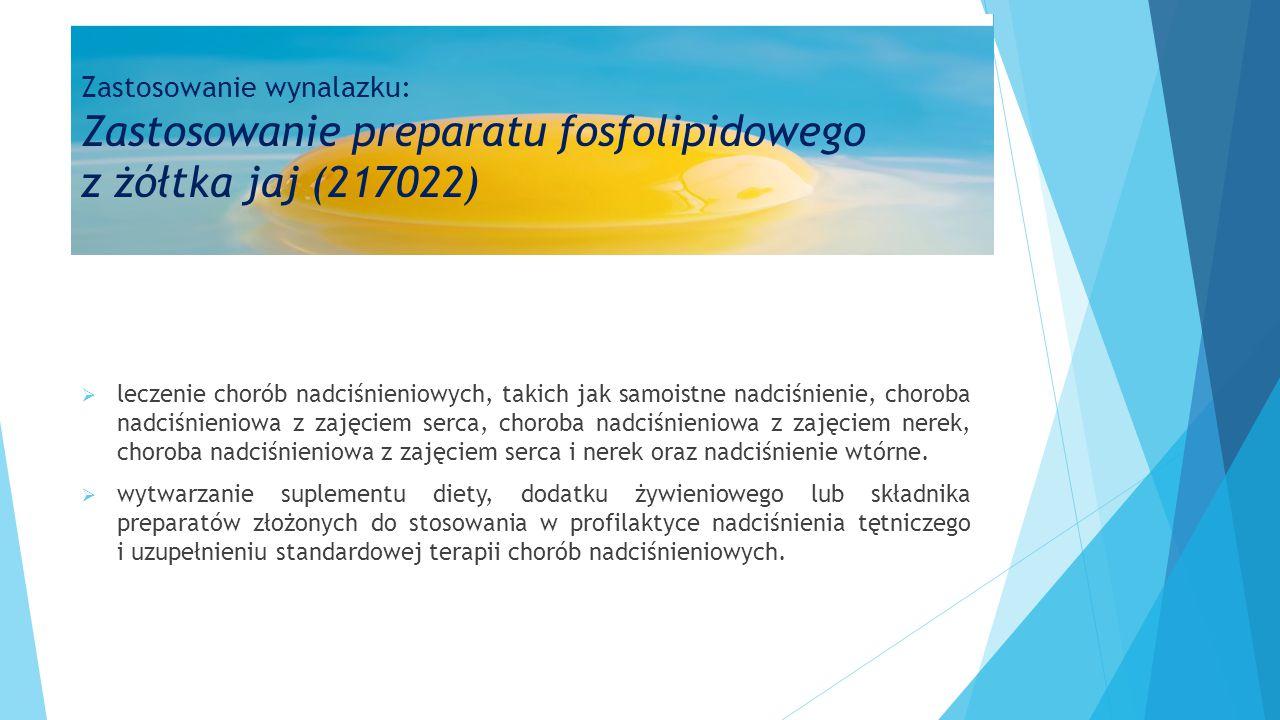 Zastosowanie wynalazku: Zastosowanie preparatu fosfolipidowego z żółtka jaj (217022)