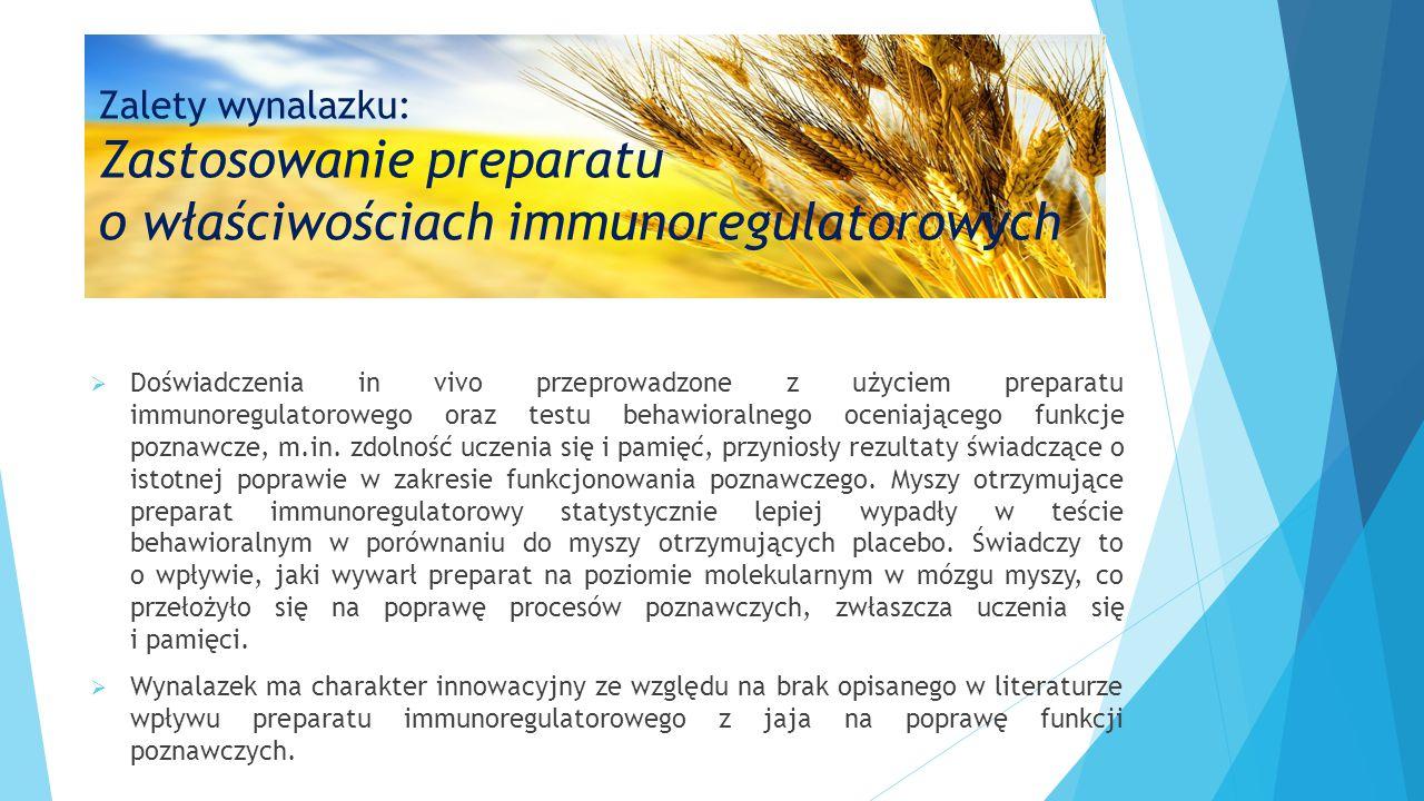 o właściwościach immunoregulatorowych