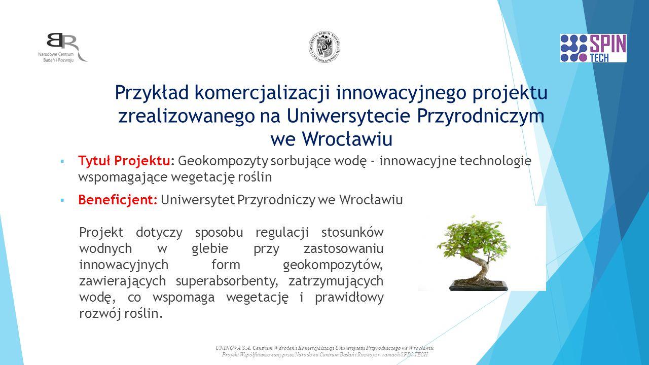 Przykład komercjalizacji innowacyjnego projektu zrealizowanego na Uniwersytecie Przyrodniczym we Wrocławiu