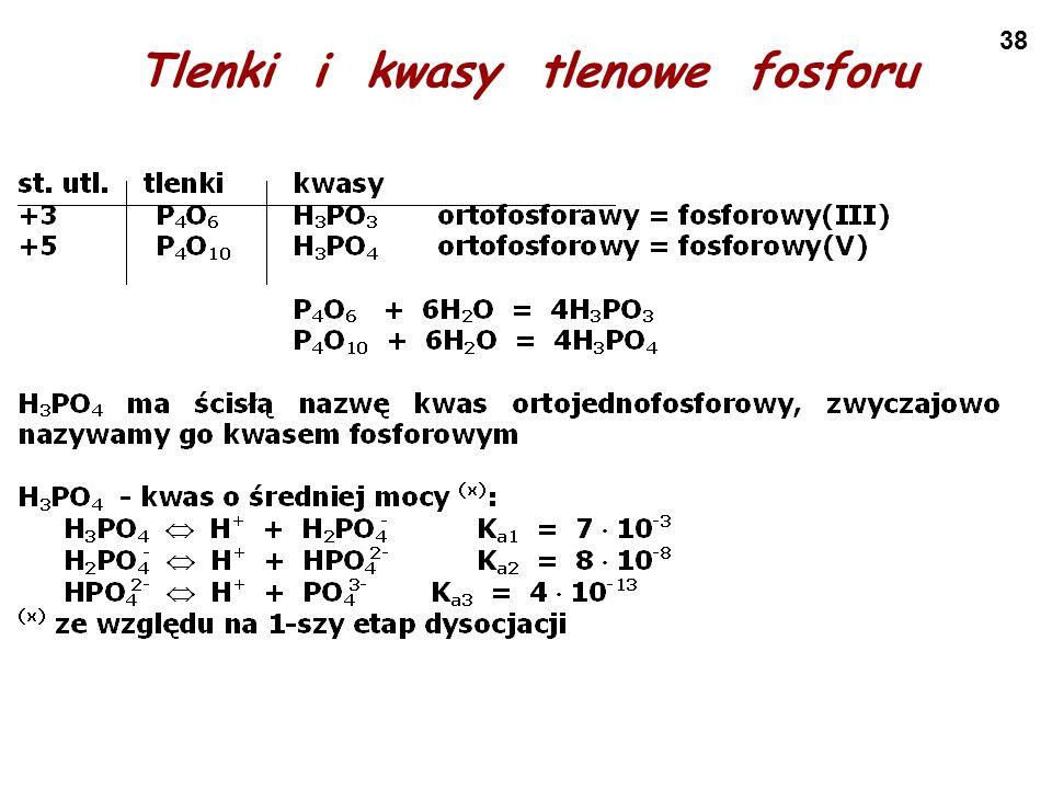 Tlenki i kwasy tlenowe fosforu