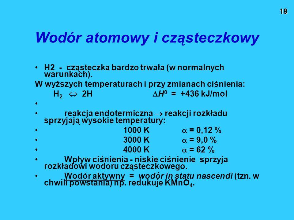 Wodór atomowy i cząsteczkowy