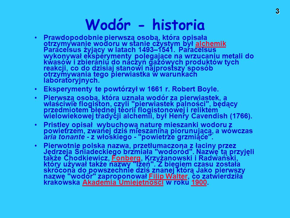 Wodór - historia