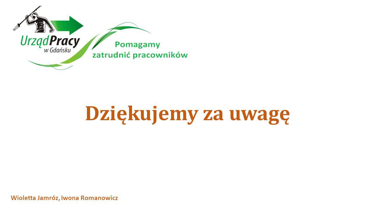 Dziękujemy za uwagę Wioletta Jamróz, Iwona Romanowicz