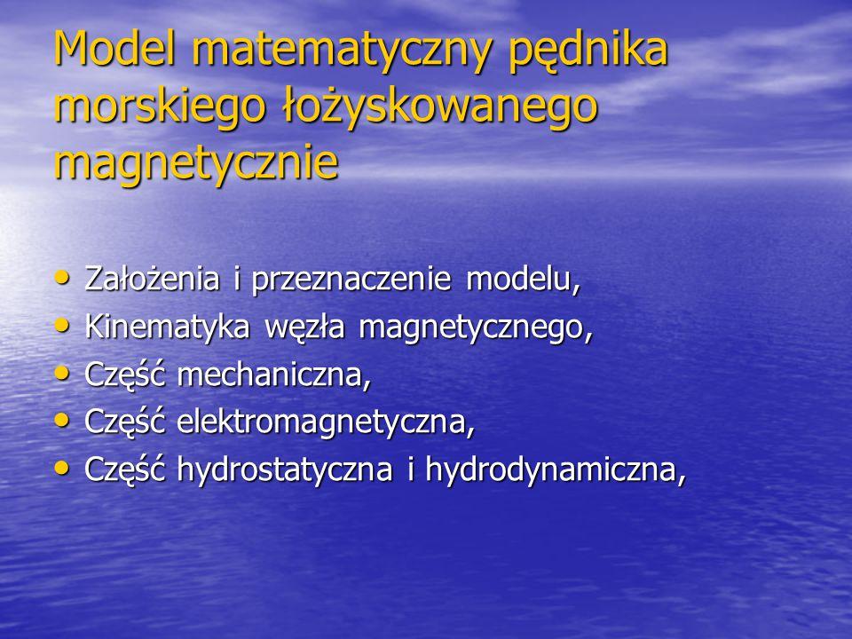 Model matematyczny pędnika morskiego łożyskowanego magnetycznie