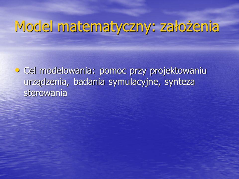 Model matematyczny: założenia
