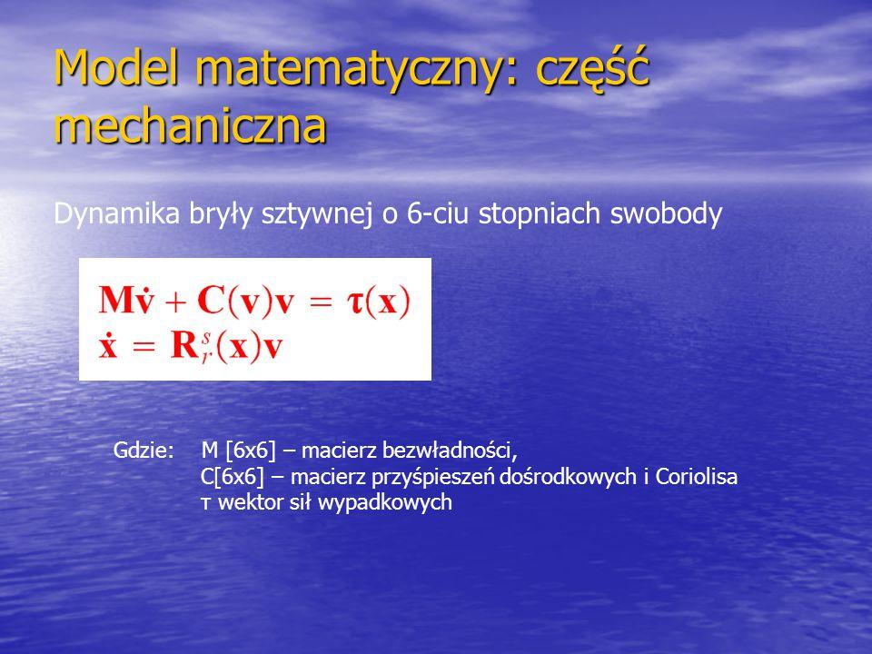 Model matematyczny: część mechaniczna