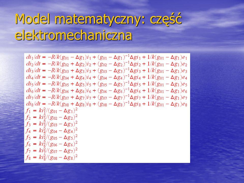 Model matematyczny: część elektromechaniczna