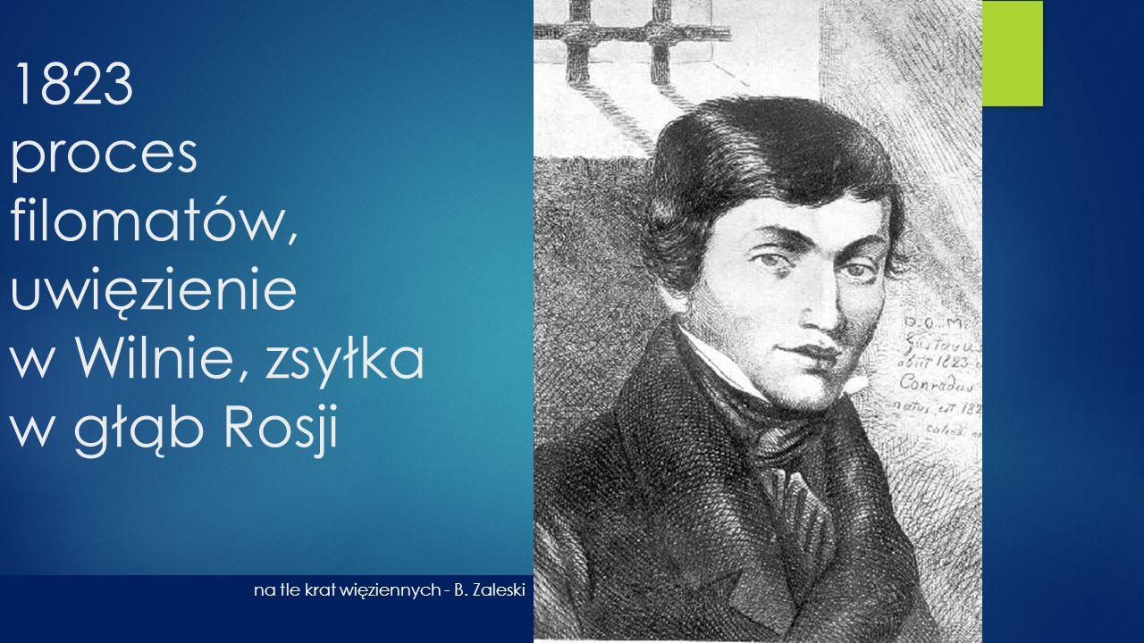 1823 proces filomatów, uwięzienie w Wilnie, zsyłka w głąb Rosji