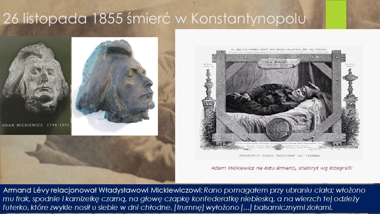 26 listopada 1855 śmierć w Konstantynopolu
